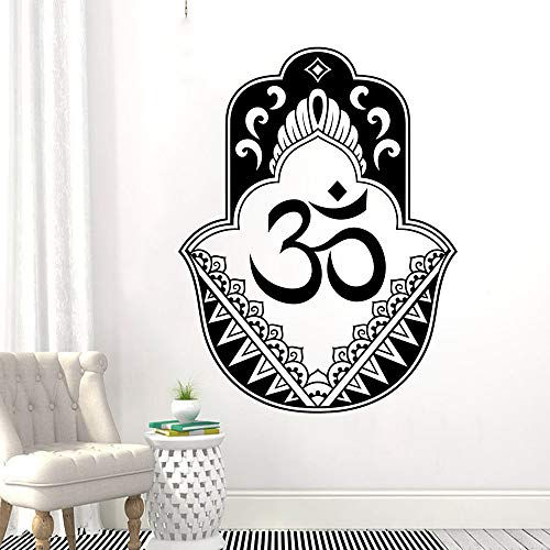 zhuziji Blue Elephant Wall Stickers,Hanging Hamsa Hand Fatima Oriental Fatima Hand Home Vinyl Waterproof Background Self Adhesive Apartme85x112cm