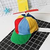 SunYueY Gorra de béisbol, para niños y adultos al aire libre, unisex, helicóptero arco iris, sombrero de sol con hélice, tamaño S L multicolor S