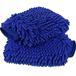 commercial anngrowy Car Wash Gloves 2 Pack – Large Format Microfiber Wash Gloves Car Cleaning Gloves Premium… car wash mit