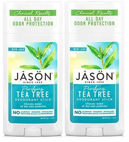 Jason Tea Tree Deodorant with Tea Tree and Grapefruit, 2.5 fl. oz. (Pack of 2)