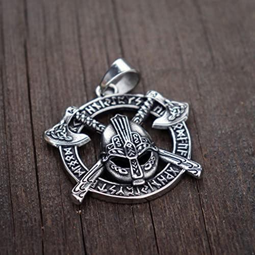 hcma Viking Celtics Axe Rune Warrior Colgante de Acero Inoxidable Amuleto eslavo Joyería