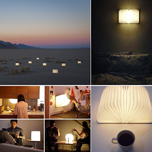 Große LED Buchlampe in Buch Form mit Akku - 5