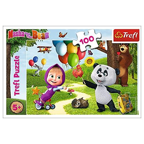 Trefl, 16370 Puzzle, Mascha und Freunde, 100 Teile, für Kinder ab 5 Jahren
