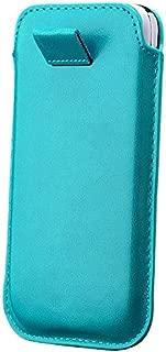 iCues Samsung Galaxy S4 Mini Case Turquesa   Extra Fino Cuero Muy Ligero - imitación de Piel Protectora de protección Envolvente de la Cubierta Funda Carcasa Bolsa Cover Case