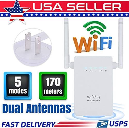 LM R Amplificador de señal WiFi Amplificador de señal Ap Potencia Alta a través de la Pared Modo de Punto de Acceso de 2.4GHz Extienda el WiFi al hogar y Dispositivos Alexa