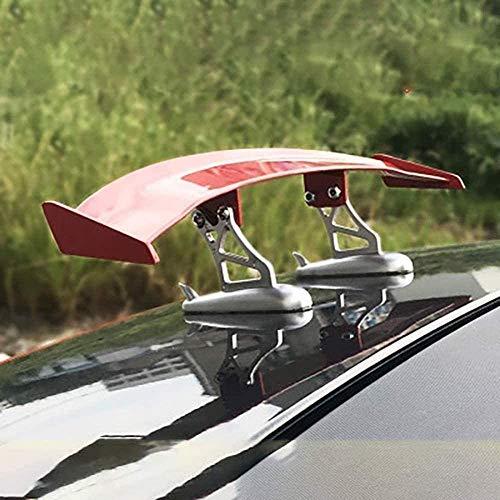 YXYNB Auto Styling Dekoration Aufkleber Einstellbare Mini Auto Heckflügel Spoiler Änderung Für Smart 450 451 453 Fortwo Forfour Zubehör,Red-Small