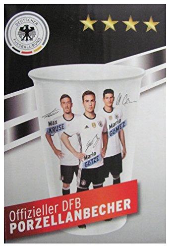 DEUTSCHER FUSSBALL-BUND Offizieller DFB Porzellanbecher - Sturm Kollektion zum Sammeln