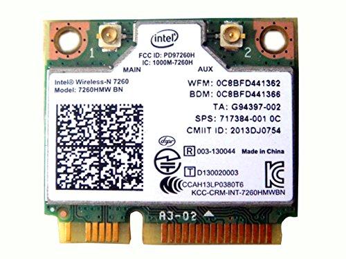 Intel Wireless-n 7260 7260hmw Bn Half Mini Pci-e Bluetooth Bt Wireless WiFi Card 802.11 B G N 717384 710661 001 for HP Laptop