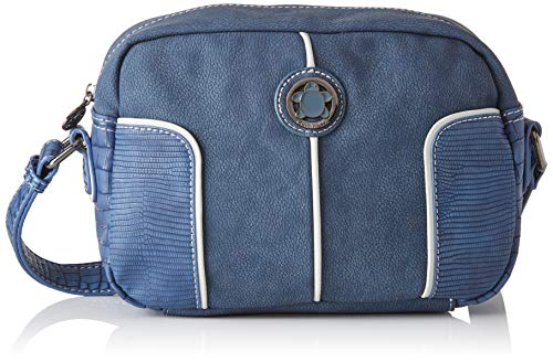 ctta caminatta Rompeolas, Bolso bandolera para Mujer, Azul (Marino), 8x18x25 cm (W x H x L)
