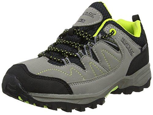 Regatta Holcombe Low JNR, Chaussures de Randonnée Basses Mixte, Grey (Rockgry/Lmzs), 36 EU
