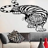 WERWN Sala de Estar Creativa y Elegante y Dormitorio Pegatinas de Pared de Tigre Feroz decoración de la habitación de los niños