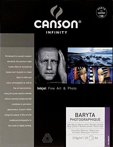 Canson CS70139 Baryta Photographique Box, Photopapier, A4