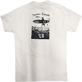 鎌T サーフクラシック(サーファーとビーサンと江の島と)【バックプリント】 オリジナルシルクプリントTシャツ 1枚1枚手刷りで仕上げるオリジナルプリントTシャツです。