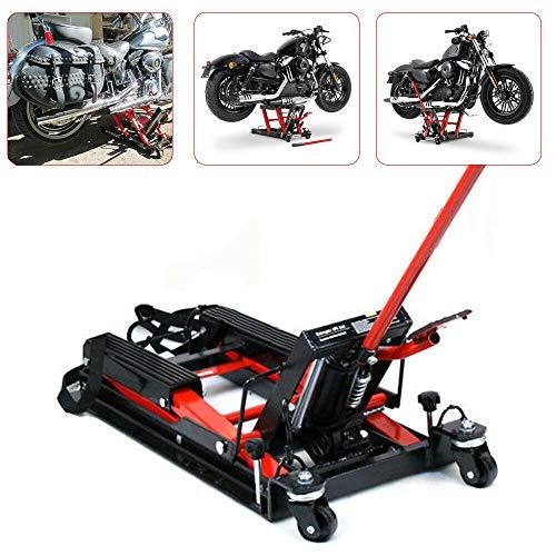 Hydraulische hydraulische motorfiets hefbrug 680 kg motorfietsen hydraulische lift 11,5 – 37,5 cm hefbrug montagestandaard draagkracht heftafel hever motorfiets lift zwart