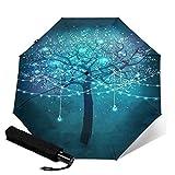 Ombrello automatico bellissimo albero magico ombrello schermo proteggere spesso ombrello solare forte stabile antivento pioggia ombrelli piccoli leggeri ombrelli pieghevoli per donne uomini all'aperto