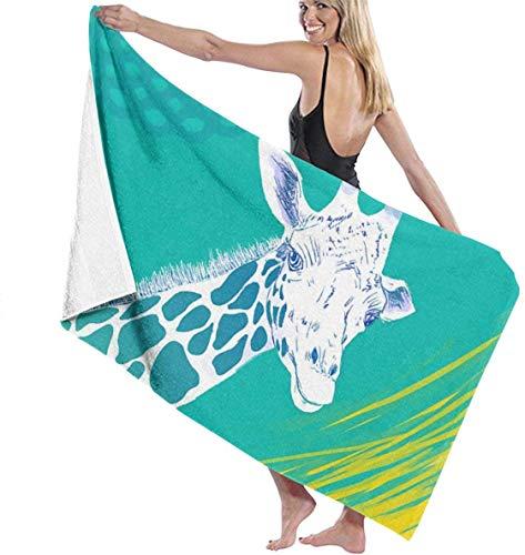 Ches Doodle Bademantel für Damen, Giraffen-Design, Weiß, Siehe Abbildung, Einheitsgröße