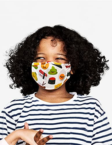 FYDELITY-Face Mask KIDS-CHILD Breathable Adjustable Comfortable Reusable Fabric Cute Sushi