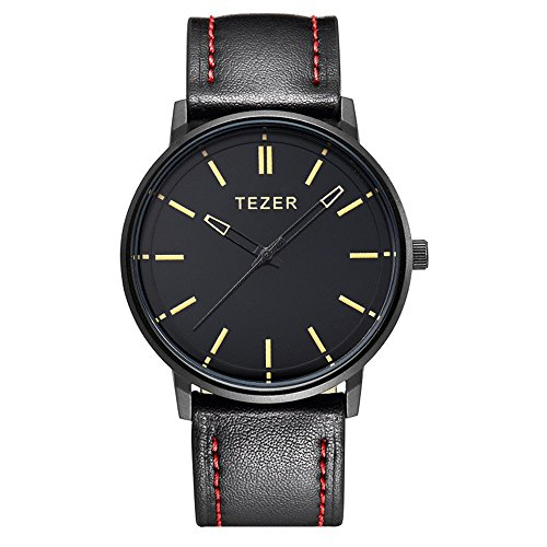 Curren Herren Quartz Uhren,Casual Analoge Quartzuhr, Multifunktionale Militär Sport Armbanduhr Männer, Wasserdicht Lederarmband mit Datumsanzeige 8291… (schwarz-2)