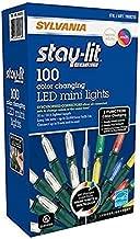 Sylvania Lights 957984 B015QCU6UK Christmas Lights 3-Function Changing Warm White Multi Color Conn