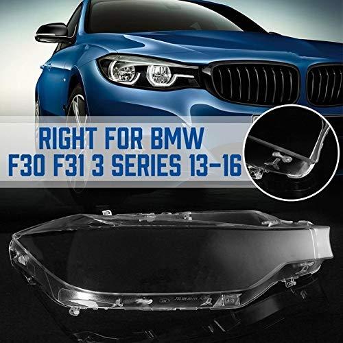 N\A Auto-Scheinwerfer-Objektive for B-M-W F30 F31 3-Serie 2013 2014 2015 2016 Auto-Frontscheinwerfer Transparent Lampshades Lampe Shell Scheinwerferglas (Farbe : 1pc Right)