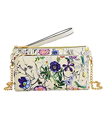 Mellow World Evie Floral Wristlet with Front Zip Pocket