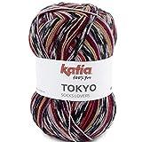 Lanas Katia Tokyo Socks Ovillo de Color Teja Cod. 81