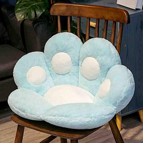 Cojín para asiento con forma de pata de gato, sofá perezoso, cojín para silla de oficina, alfombrilla cálida y agradable para la piel, especialmente diseñada para la construcción de salud,Azul,70*80CM