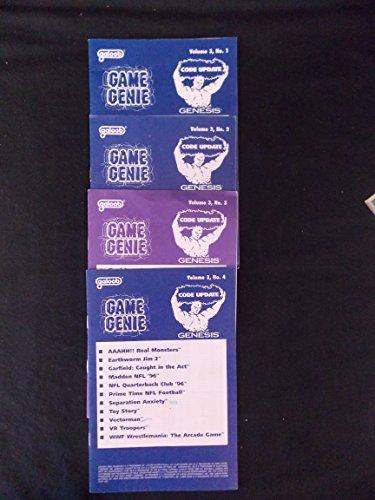 Game Genie Code Update Book for Sega Genesis, Total 4 books Volume 3, 1-4, 1996