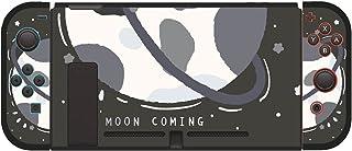 任天堂Switch用 カバー 分体式 ニンテンドースイッチ 保護 ケース 任天堂スイッチ 本体カバー Joy-Conカバー ジョイコンケース TPU キズ防止 かわいい Nintendo Switch向け ケース ムーン ブラック