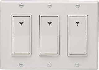 Stevlogs Type 1/2/3 Gang AC 100-240V Smart WiFi LED Light Switch Wall Panel Mobile APP Remote Control for Alexa