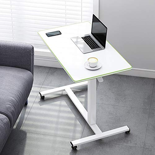 GGXX Computadora PortáTil Mesas para Colocar sobre La Cama Soporte para Computadora PortáTil Escritorio Mesa En Forma De C Escritorio Ajustable En Altura Mesa Plegable Simple