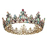 SWEETV Jeweled Baroque Queen Crown - Rhinestone Wedding Crowns and Tiaras for Women, Costume Party...