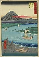 歌川広重日本美術浮世絵53の有名なランドマーク絵尻ジグソーパズル大人の木のおもちゃ500ピース