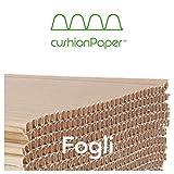 cushionPaper Strong | spessore 15mm | Fogli di carta ondulata, riciclata e riciclabile per imballaggio, protezione e riempimento | Formato: 59x39cm | 40 fogli per scatola | Dim. Scatola 60x40x60cm