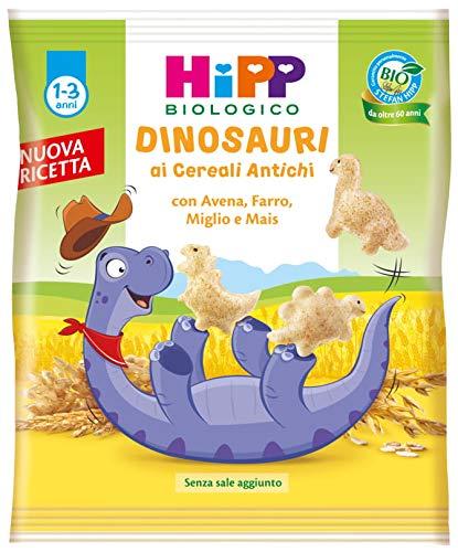 Hipp - Dinosauri Ai Cereali Antichi Bio, Con Avena, Farro, Miglio E Mais, 9 Confezioni da 30 G - 270 g