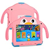 Tablet for Toddlers Tablet Android Kids Tablet with WiFi Dual Camera 1GB 16GB Storage 1024 x 600 IPS Screen Parental Control Mode Google Playstore YouTube Netflix for Boys Girls Android 10