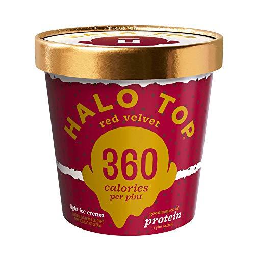 Halo Top, Red Velvet Ice Cream, Pint (4 Count)