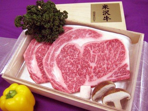 最高級熟成米沢牛 A5等級メス リブロース ステーキ用 400g(200g×2枚) 黒箱入