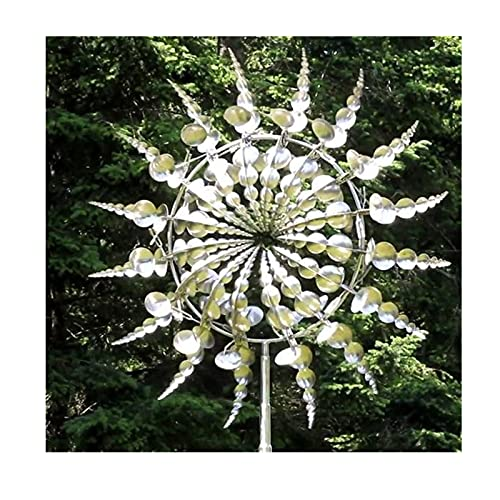 Wind Powered Kinetic Sculptures - Sculptures Move with The Wind, Unique and Magical Metal Windmill, Wind Spinner Outdoor Garden Metal Decorations Gift (1 Set)