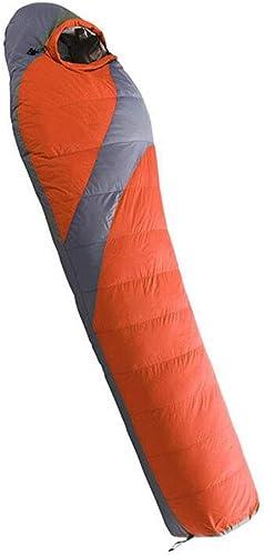 DAFREW Sac de Couchage en Duvet 1600g remplissant, équipement de Camping en Plein air Sac de Couchage pour Adulte (Couleur   Orange)