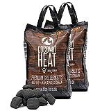 BBQ-Toro Coconut Heat | Premium Grillbriketts aus 100% Kokosnussschalen | 20 kg | Kokosnuss Holzkohle für Dutch Oven | Kokosnussbriketts