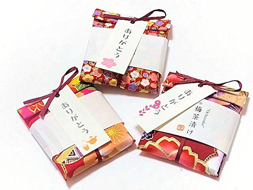 京のお茶漬けプチギフト 和柄手ぬぐい包み 梅茶漬け