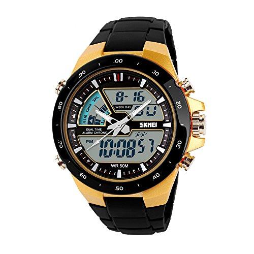 Skmei - Reloj de natación para hombre, 5 ATM, diseño digital