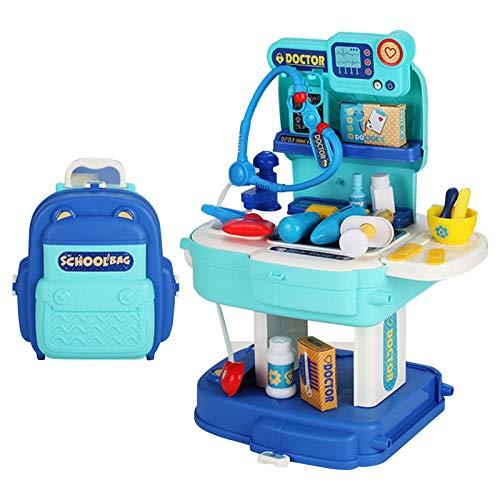 knowledgi Juguete de simulación para niños, 31 piezas de juguete para el hogar, juguete de simulación para el artista escolar para niños y niñas