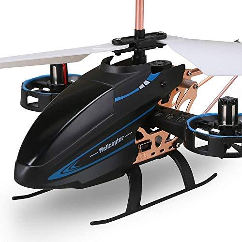 YAMMY RC Ferngesteuerter Hubschrauber mit Gyro LED-Licht 4,5-Kanal-Mini-Ladehubschrauber 3D Upside-Down-Flug-Stunt-Spielzeug mit R (intelligentes Auto)