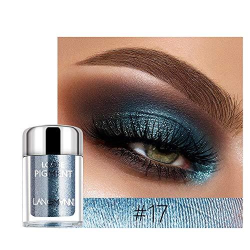 PinkLu Lidschatten Einzeln,Glitter Lidschatten Pulver Palette Matte Lidschatten Kosmetik Make-Up Hochperlenlidschattenpulver 1X Diamant GläNzender Lidschatten