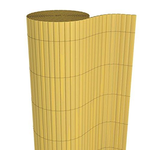 Homelux Sichtschutzmatte Windschutz Balkonverkleidung Garten Blende PVC Zaun UV-Resistent Wetterfest Schnelltrocknend 90 x 400 cm Farbe: Bambus