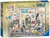 Ravensburger Crazy Cats Vintage No. 7 - Puzzle de Punto uno, Color Morado, 500 Piezas