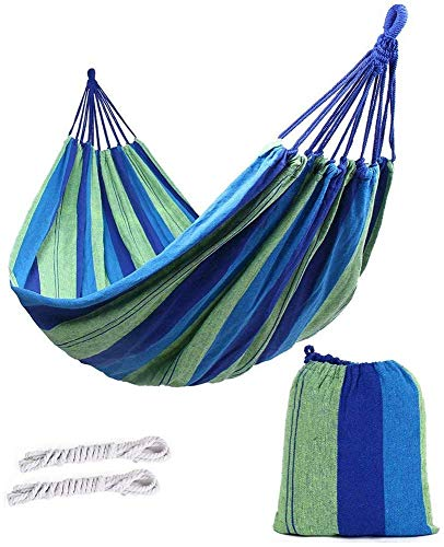 CHHD Garden Hamaca para Acampar, Cómoda Hamaca de Lona para Interiores/Exteriores, Transpirable, portátil de Secado rápido, Rojo, Amplia Sola