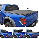 Tyger Auto 5'2' (Soft Top) T3 Tri-Fold Truck Tonneau Cover TG-BC3C1039 Works with 2015-2019 Chevy Colorado/GMC Canyon | Fleetside 5' Bed